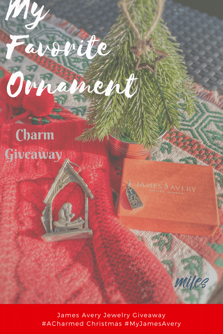 Do you have a favorite ornament? That special one that you love to unpack and place on the tree every year? Mine reminds me of what matters most at Christmas. Learn more end enter to win a Christmas charm from James Avery Artisan Jewelers! #Ad #ACharmedChristmas #MyJamesAvery