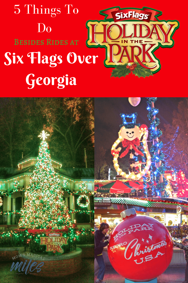 Even if your family isn't into theme park rides, there is still so much fun to be had at Six Flags Holiday in the Park! Take the family to wander the holiday lights, shows and deccorations! Did I mention the food? #SixFlagsOverGeorgia #HolidayInThePark