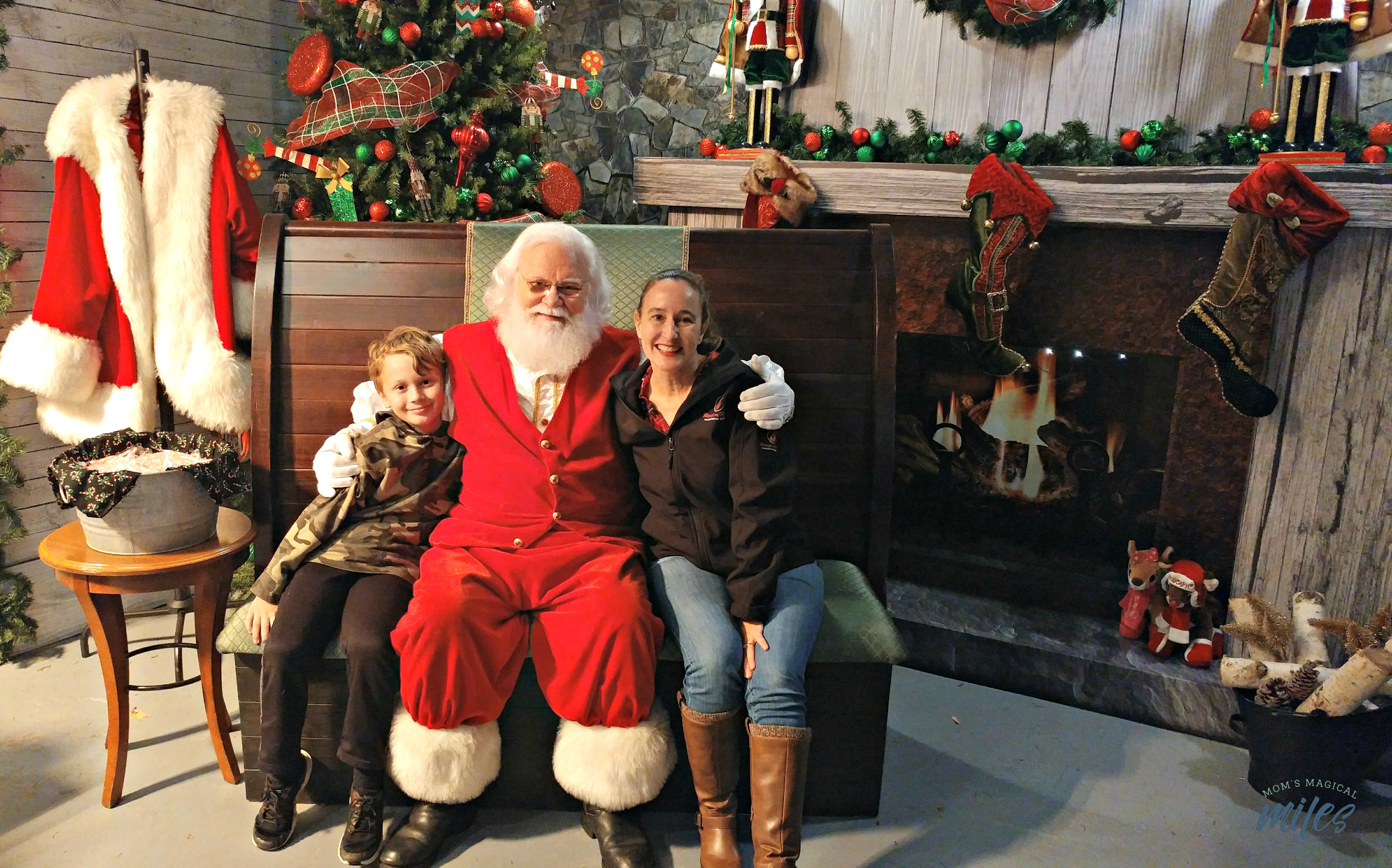 Stone Mountain Christmas is one of the BEST places to see Santa AND Mrs. Claus!