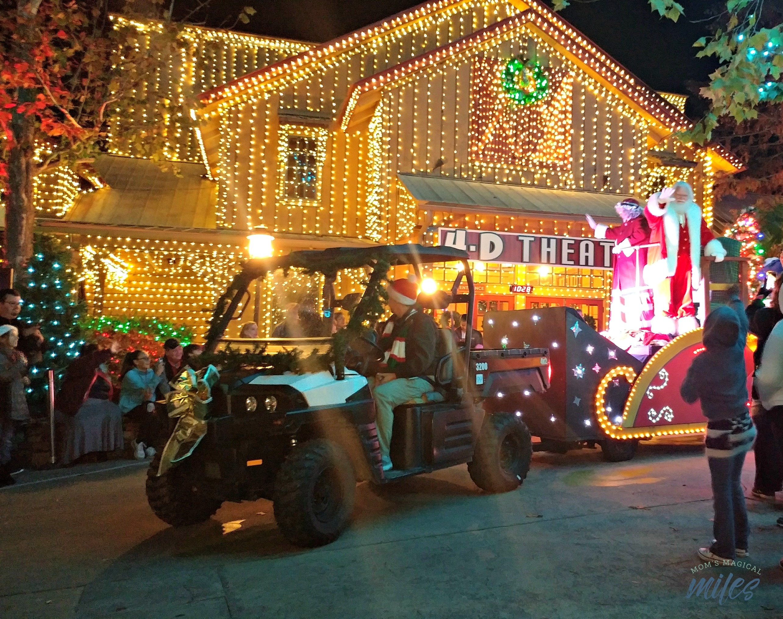 Families can wave hello to Santa and Mrs. Claus in the Stone Mountain Christmas parade!
