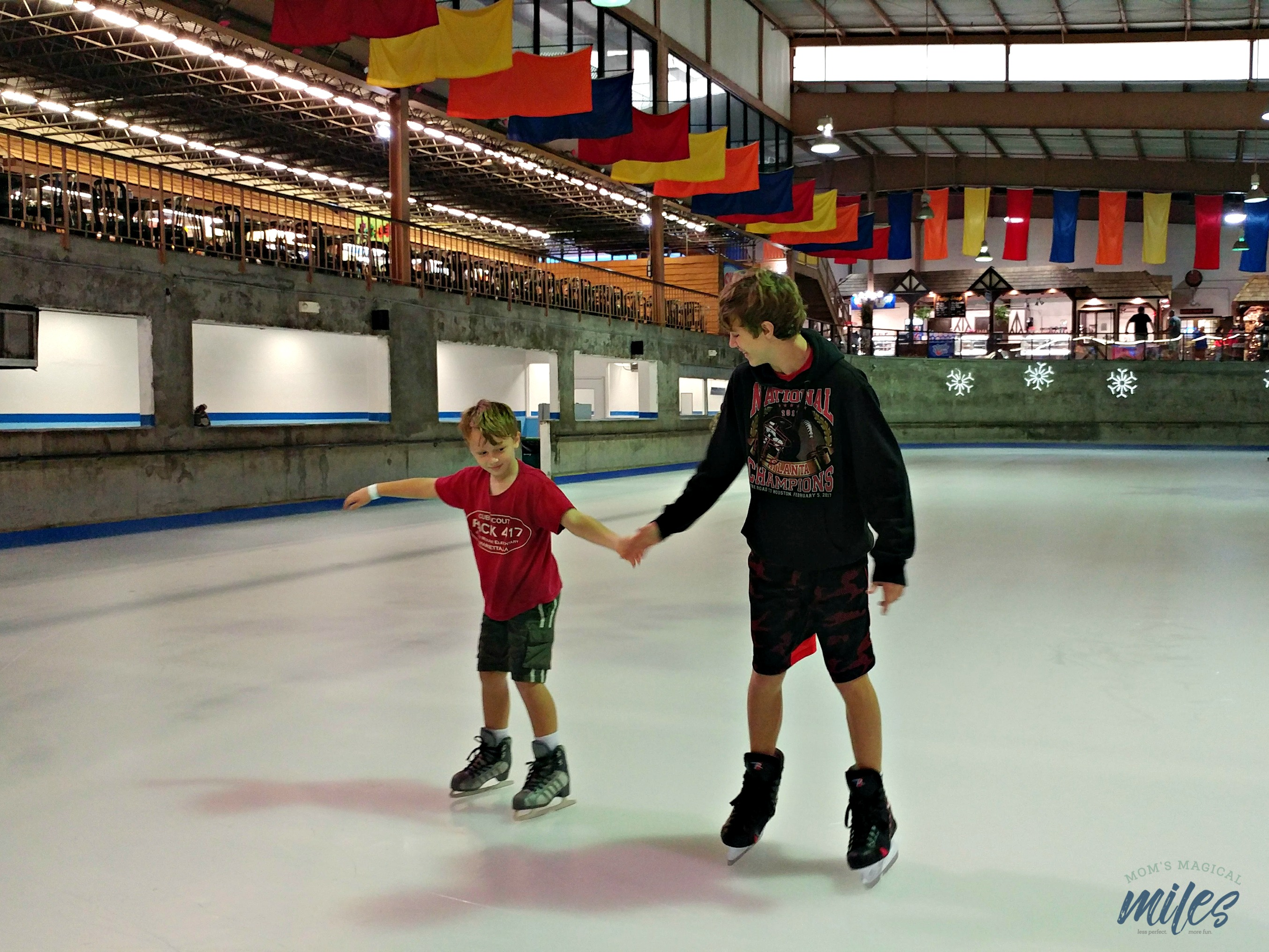 Rainy day in Gatlinburg, TN? Head up to Ober Gatlinburg and do a little indoor ice skating!