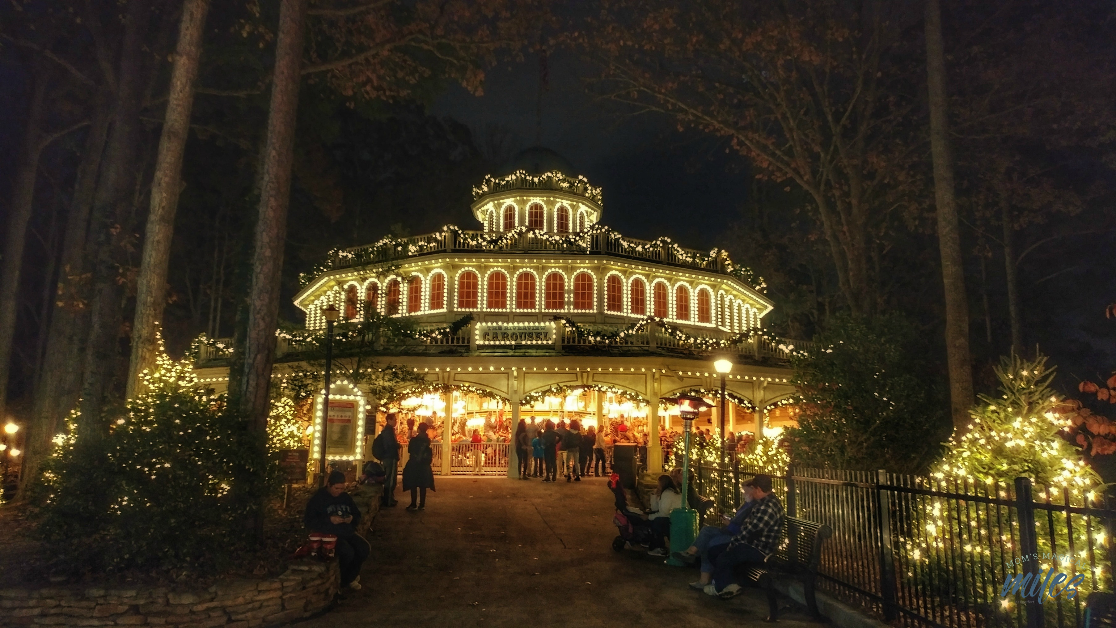 The Riverside Carousel is a must see during Six Flags Holiday in the Park! Six Flags Over Georgia
