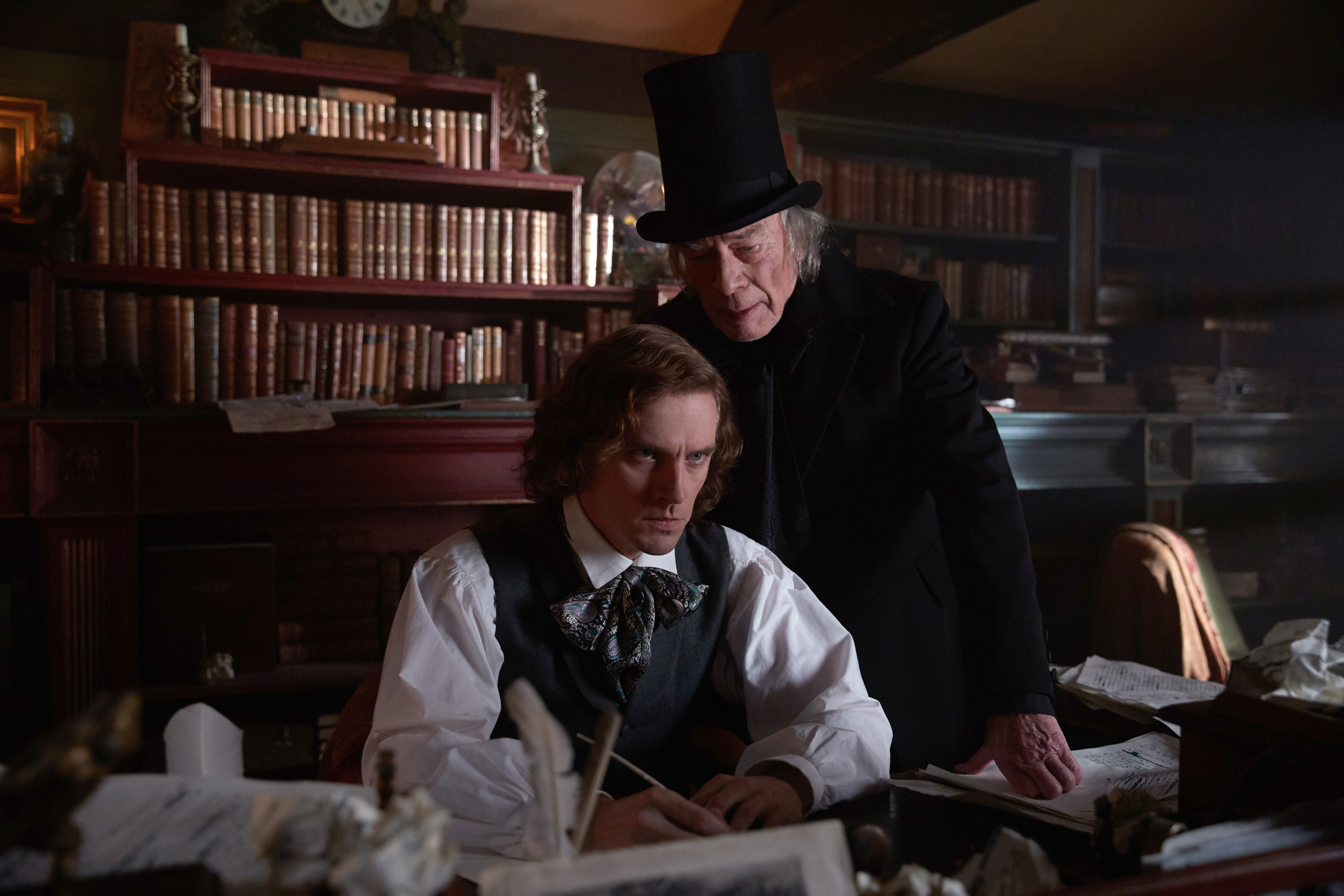 """Characters come alive to help Charles Dickens write his immortal classic """"A Christmas Carol"""" in The Man Who Invented Christmas."""