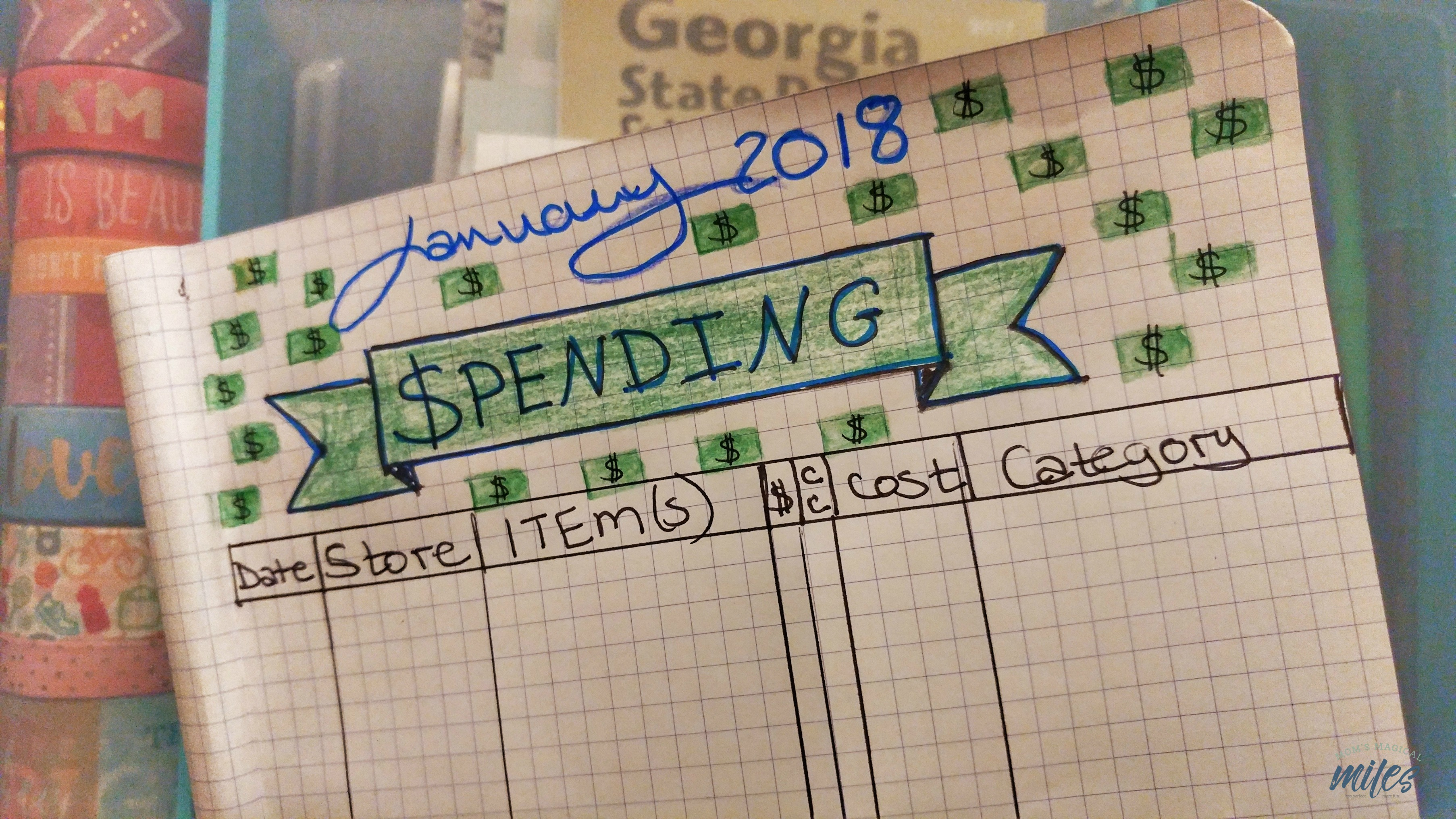 Is one of your resolutions to get a handle on your finances? Create a spending tracker in your beginner bullet journal!