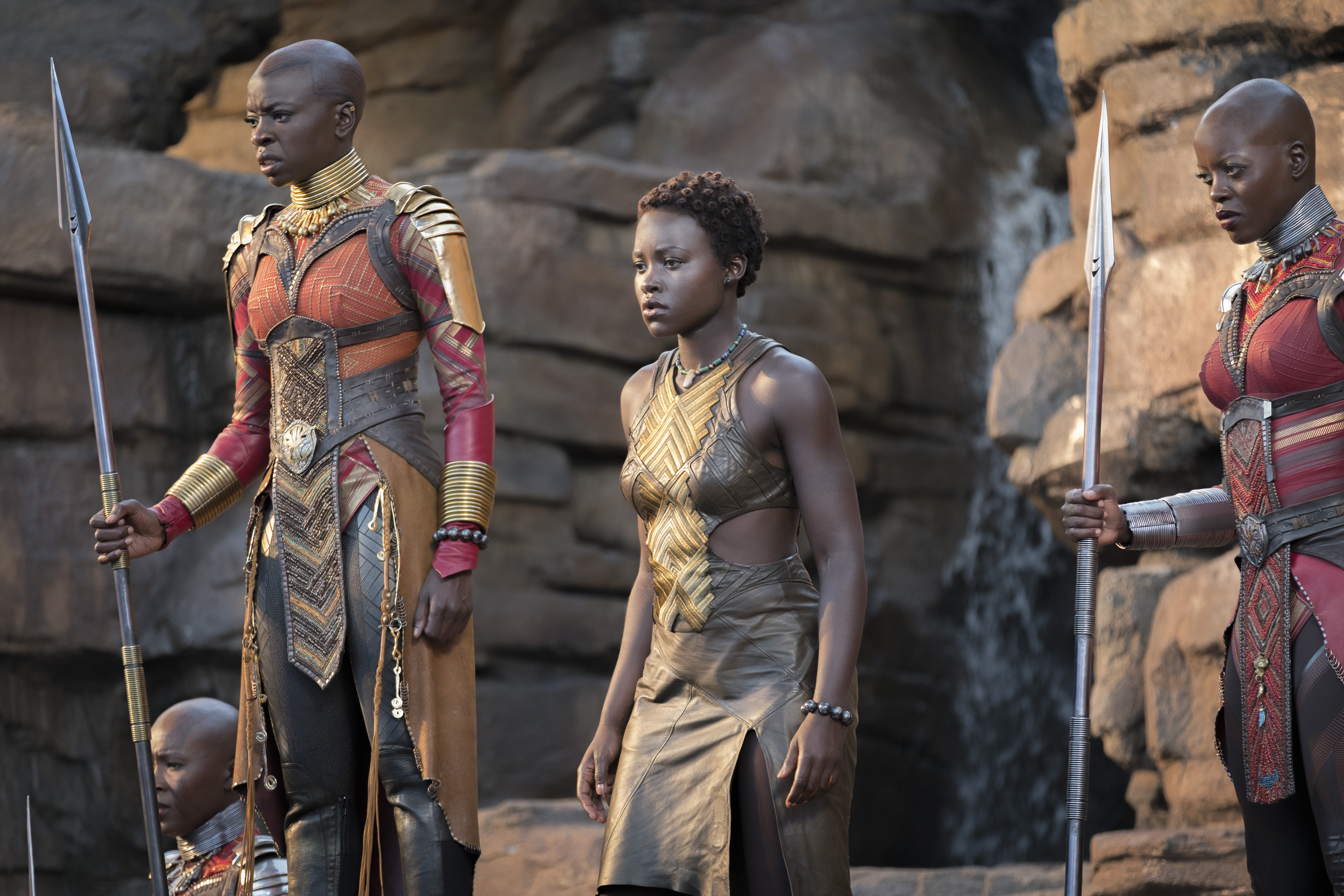 Black Panther has a refreshingly equal amount of female and male warriors.
