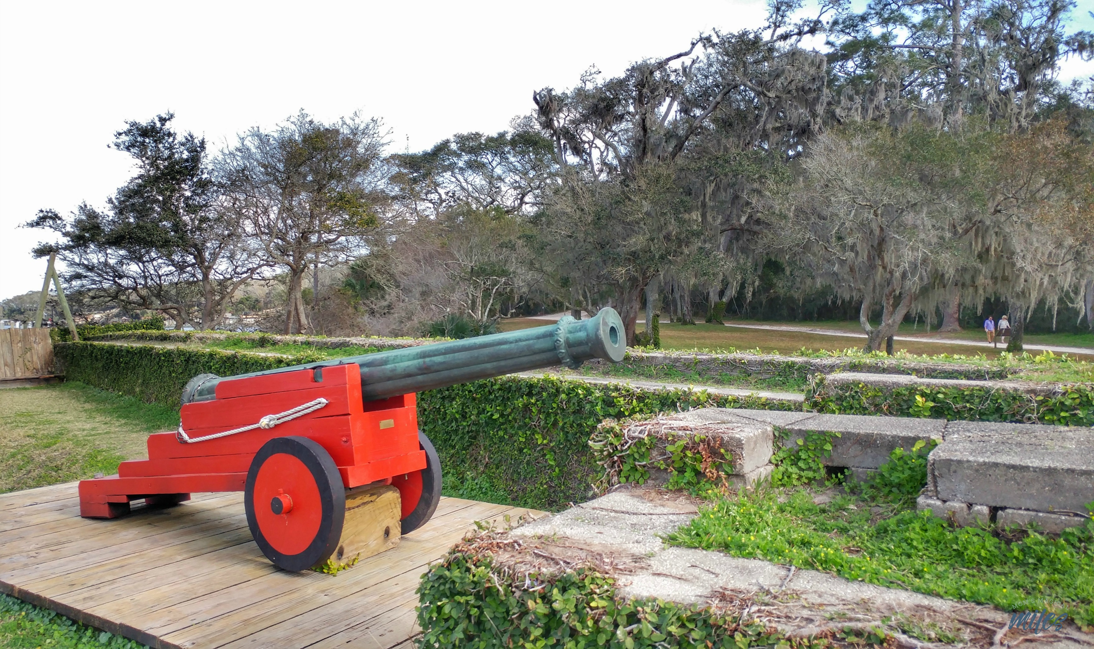 A replica of Fort Caroline is situated on the bank of the St. Johns River in Jacksonville, Florida.