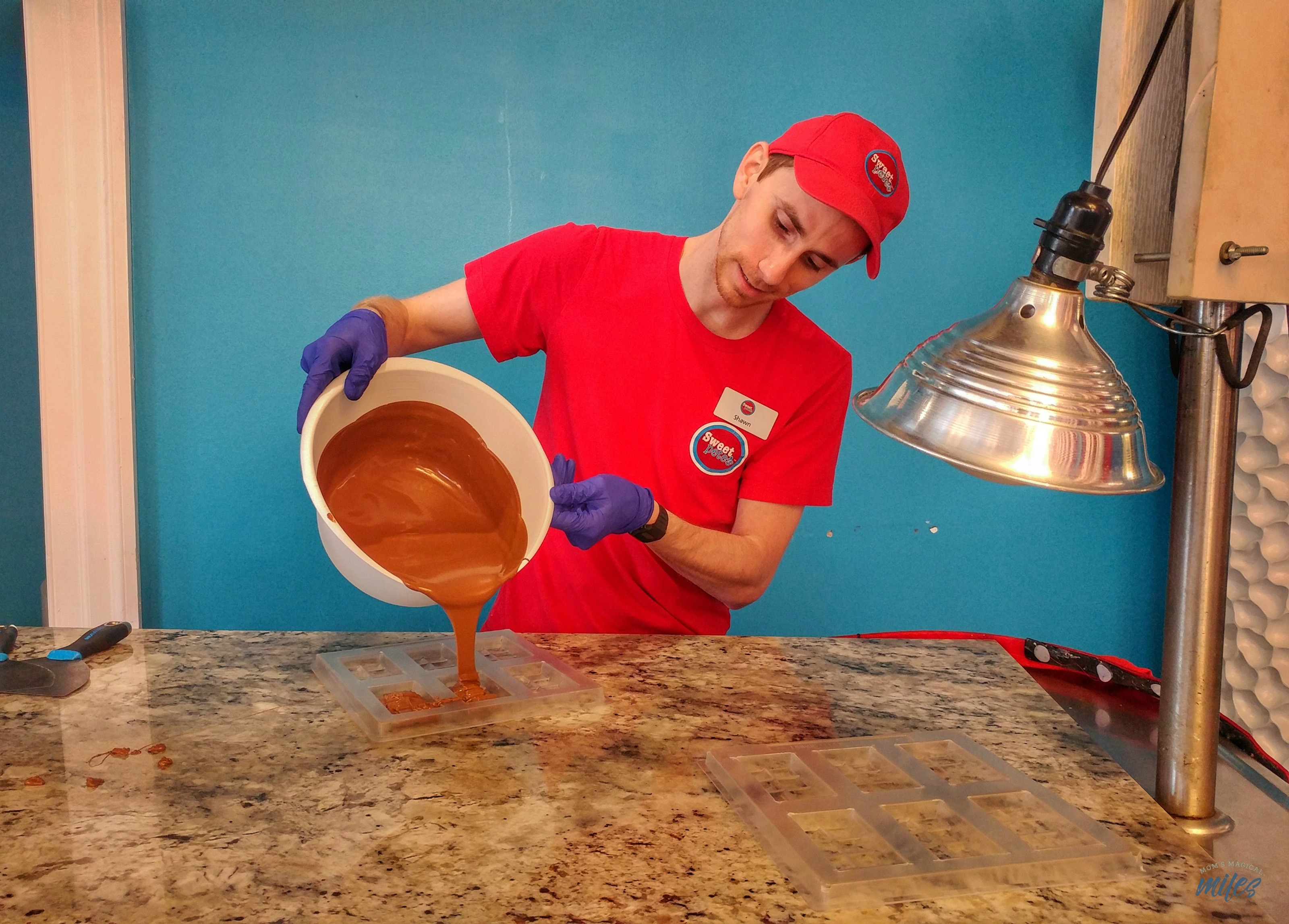 The chocolate making class at Sweet Pete's in Jacksonville, FL is fun for even the youngest child!