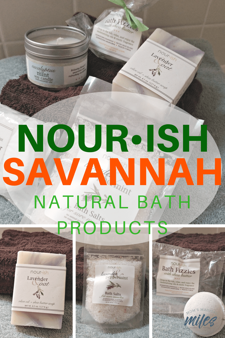 Nourish Natural Bath Products from Savannah are perfect for sensitive skin. The products are non-toxic and biodegradable, making them friendly for your skin and the earth! They are online as well as at locations in Savannah, Pigeon Forge, Hilton Head and Melbourne, Fl.